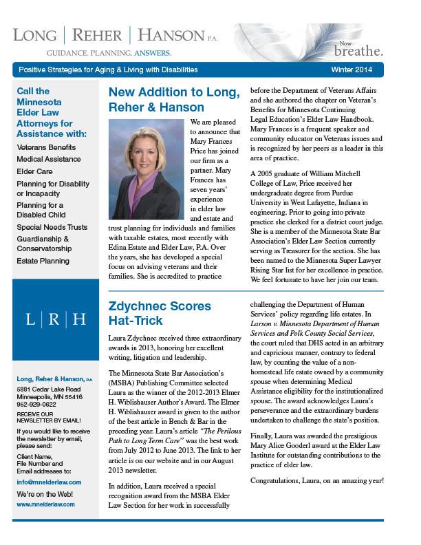 LRH Winter 2014 Newsletter_FINAL.indd